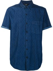 Neuw Printed Shortsleeved Shirt Blue