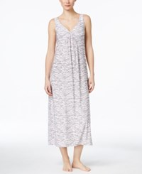 Alfani Twist Front Nightgown Only At Macy's Printed Pink Heather