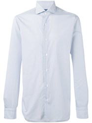 Barba Patterned Shirt White