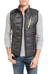 Smartwool Men's 'Corbet 120' Quilted Zip Front Vest Graphite Black