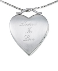 No Vendor Heart Locket Necklace In Sterling Silver