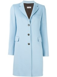 Alberto Biani Single Breasted Coat Blue