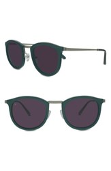 Smoke X Mirrors Women's Shout 49Mm Retro Sunglasses Green Matte Silver Green Matte Silver