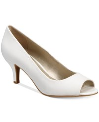 Karen Scott Mory Peep Toe Pumps Only At Macy's Women's Shoes White
