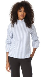 Clu Bell Sleeve Poplin Shirt Wide Stripe