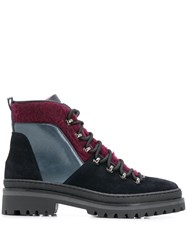 Tommy Hilfiger Cosy Outdoor Hiking Boots Blue