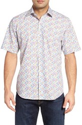 Bugatchi Men's Classic Fit Bicycle Print Sport Shirt