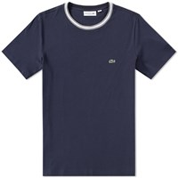Lacoste Tipped Jersey Tee Blue