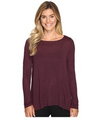 Lilla P Long Sleeve Open Back Swing Top Chianti Women's Clothing Red