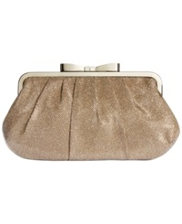 Style And Co. Pat Bow Frame Clutch Champagne