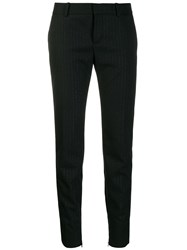 Saint Laurent Tuxedo Band Trousers Black