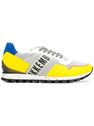 Dirk Bikkembergs Panelled Sneakers Yellow And Orange