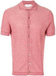 Pringle Of Scotland Mini Argyle Shirt Red