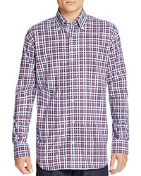 Tailorbyrd Tailor Byrd Congo River Plaid Regular Fit Button Down Shirt Cranberry