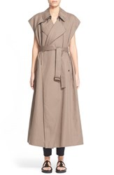 Women's Helmut Lang Cotton And Linen Trench Vest