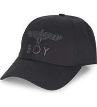 Boy London Flash Logo Cotton Snapback Cap Black