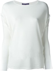 Ralph Lauren Raw Edge Detail Jumper White