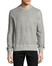 Rag And Bone Toweling Sweatshirt Heather Gray