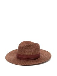 Lola Hats Fold Back Straw Hat Brown