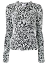 Carven Spotty Knitted Jumper Women Cotton Acrylic Polyamide S Black