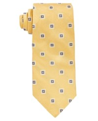 Brooks Brothers Men's Square Medallion Classic Tie Yellow
