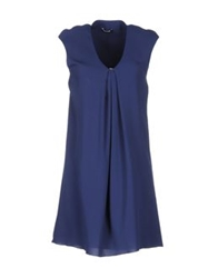 Lupattelli Short Dresses Blue