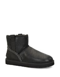 Ugg Classic Mini Shearling Lined Leather Boots Black