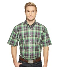 Cinch Short Sleeve Plain Weave Plaid Multicolored Men's Clothing