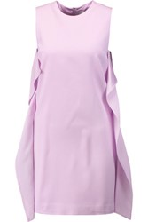 Msgm Ruffled Crepe Mini Dress Lilac