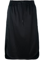 Alexander Wang T By Straight Midi Skirt Black