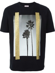 Palm Angels Palm Tree Photo Print T Shirt Black