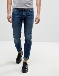 Pepe Jeans Hatch Slim Fit Jean In Mid Wash Blue