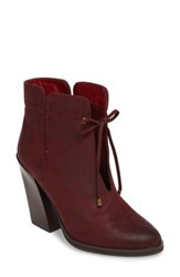 Sbicca Women's Chick Flick Bootie Wine Faux Leather