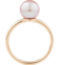 Noa Fine Jewellery Perla 18Ct Gold And Pearl Ring Violet Rose