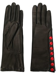 Agnelle Gloves With Contrast Poppers Black