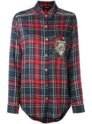 The Kooples Embroidered Checked Shirt Women Polyester Modal Metal Xs