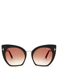 Tom Ford Samantha Cat Eye Sunglasses Black Multi