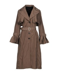 Paola Frani Pf Overcoats Dark Brown