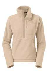 The North Face Women's 'Sheepeater' Half Zip Fleece Pullover Flax