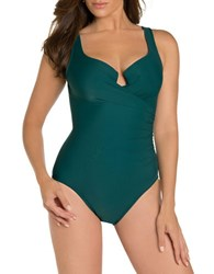 Miraclesuit Must Have Escape One Piece Swimsuit Green