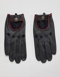 Dents Delta Leather Driving Gloves Black