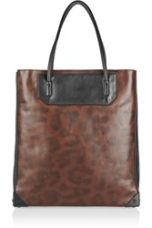 Alexander Wang Prisma Leopard Print Leather Tote Animal Print