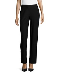 Eileen Fisher Washable Crepe Modern Wide Leg Pants Black Petite