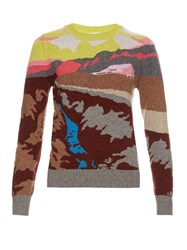 Barrie Landscape Cashmere Sweater Multi