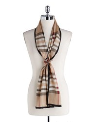 Lord And Taylor Silk Fashion Scarf Camel