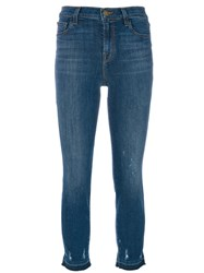 J Brand Maude Tapered Jeans Cotton Spandex Elastane Tencel Blue
