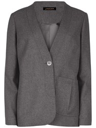 Jaeger Pleat Pocket Detail Jacket Charcoal