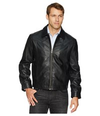 Scully Barron Soft Leather Zip Front Jacket Black Coat