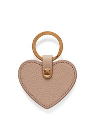Mulberry Heart Keyring Beige