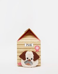 Asos Christmas Pug Cosy Sock In Dog House Gift Set Multi
